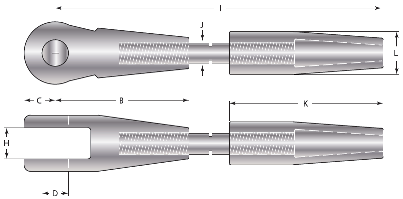 Architectural Fork Sockets Wireco Structures
